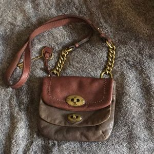 Small Fossil leather crossbody bag